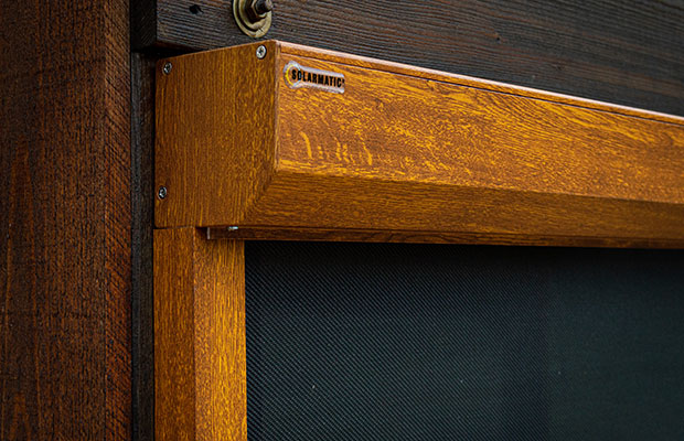 ZIP-Markise mit Holzdekor